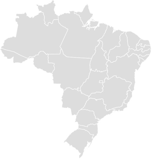 Color Blank Map of BRAZIL with Statistics