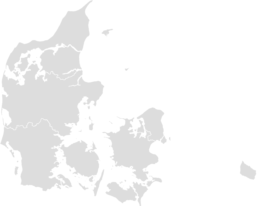 Printable Outline,Blank Map of DENMARK