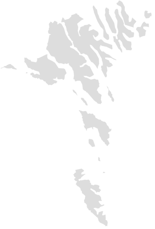 Color Blank Map of FAROE_ISLANDS with Statistics