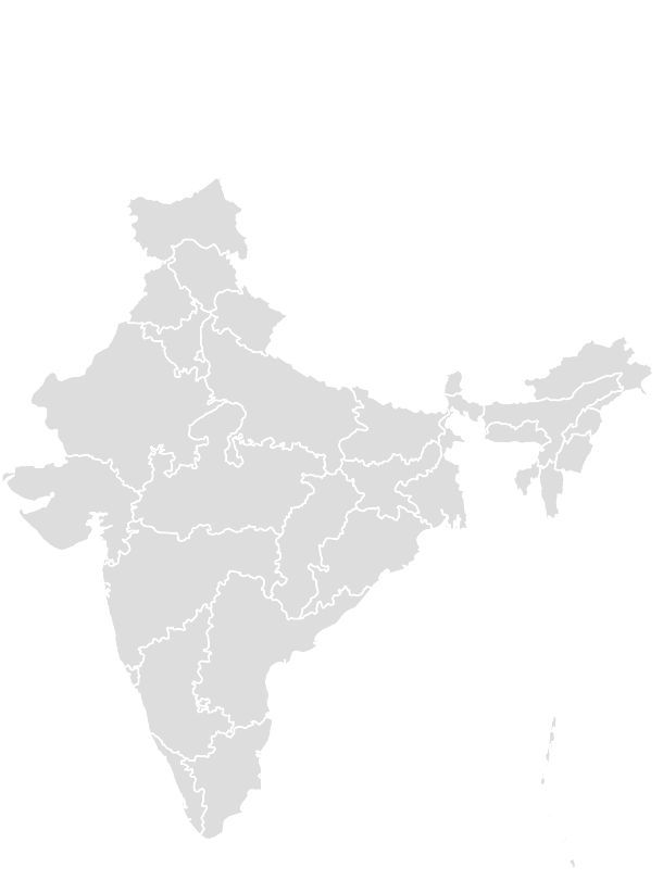 Printable Outline,Blank Map of INDIA