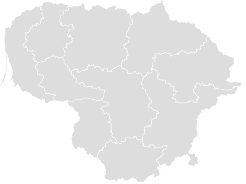 Color Blank Map of LITHUANIA with Statistics