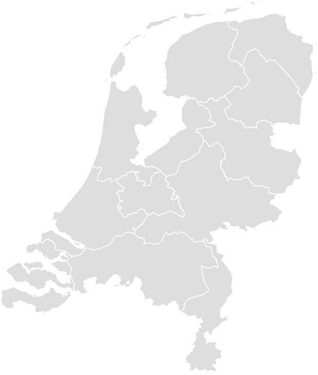 Printable Outline,Blank Map of NETHERLANDS