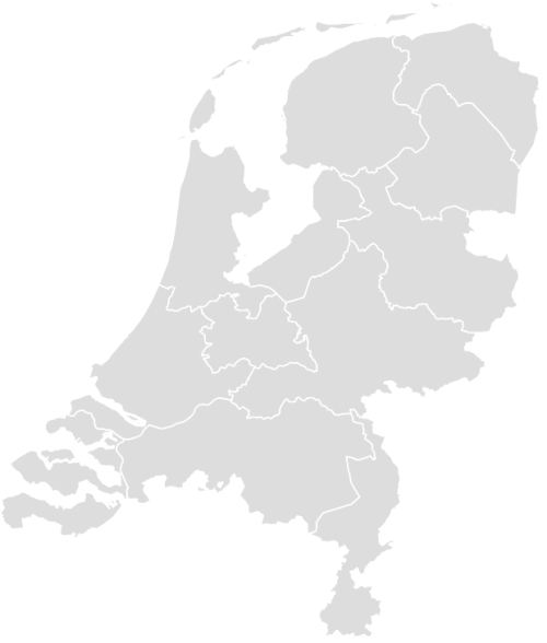 Color Blank Map of NETHERLANDS with Statistics