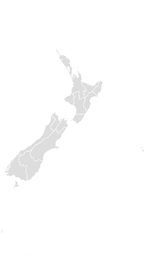 Color Blank Map of NEW_ZEALAND with Statistics