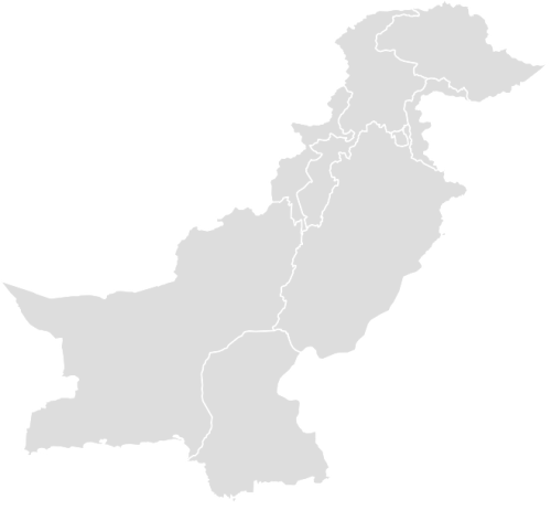 Color Blank Map of PAKISTAN with Statistics