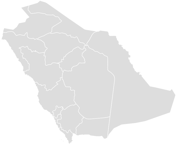 Printable Outline,Blank Map of SAUDIARABIA
