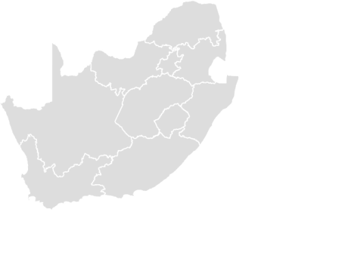 Color Blank Map of SOUTH_AFRICA with Statistics