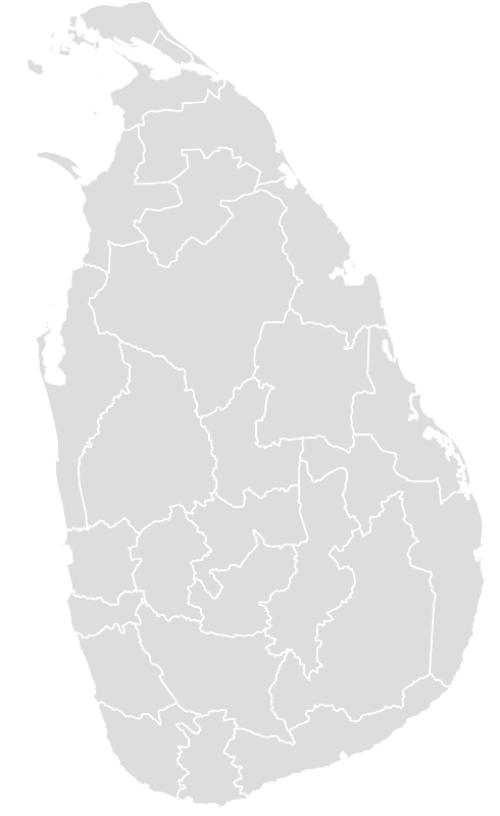 Color Blank Map of SRI_LANKA with Statistics