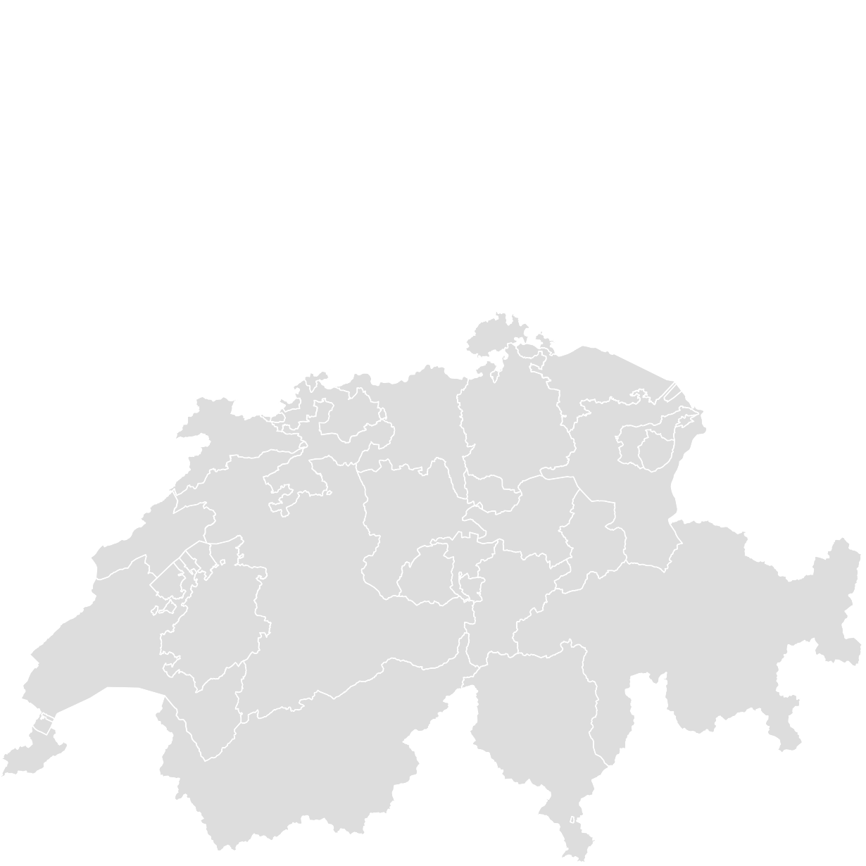 Printable Outline,Blank Map of SWITZERLAND
