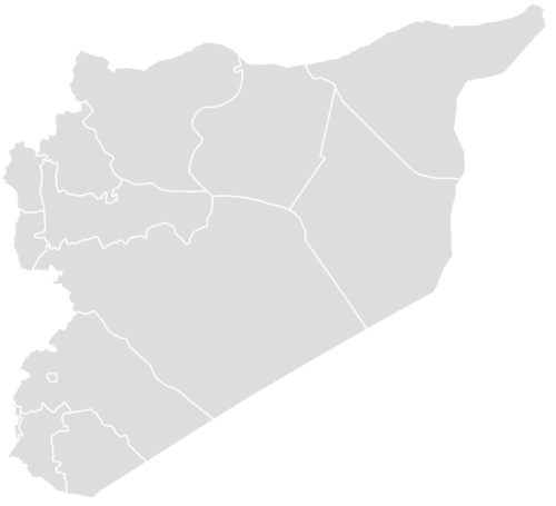 Color Blank Map of SYRIA with Statistics