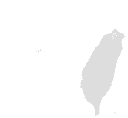 Color Blank Map of TAIWAN with Statistics