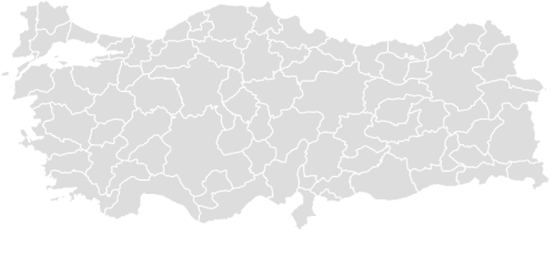 Color Blank Map of TURKEY with Statistics