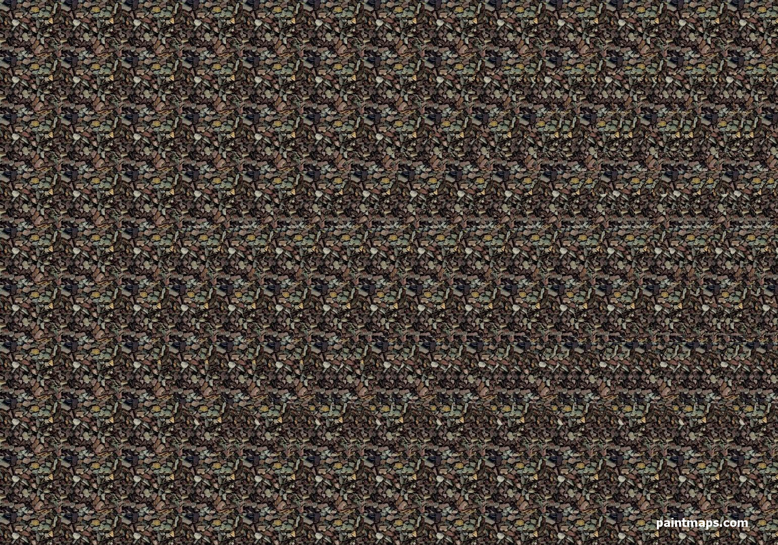 CHAD Map in 3D Stereogram (Magic Eye)