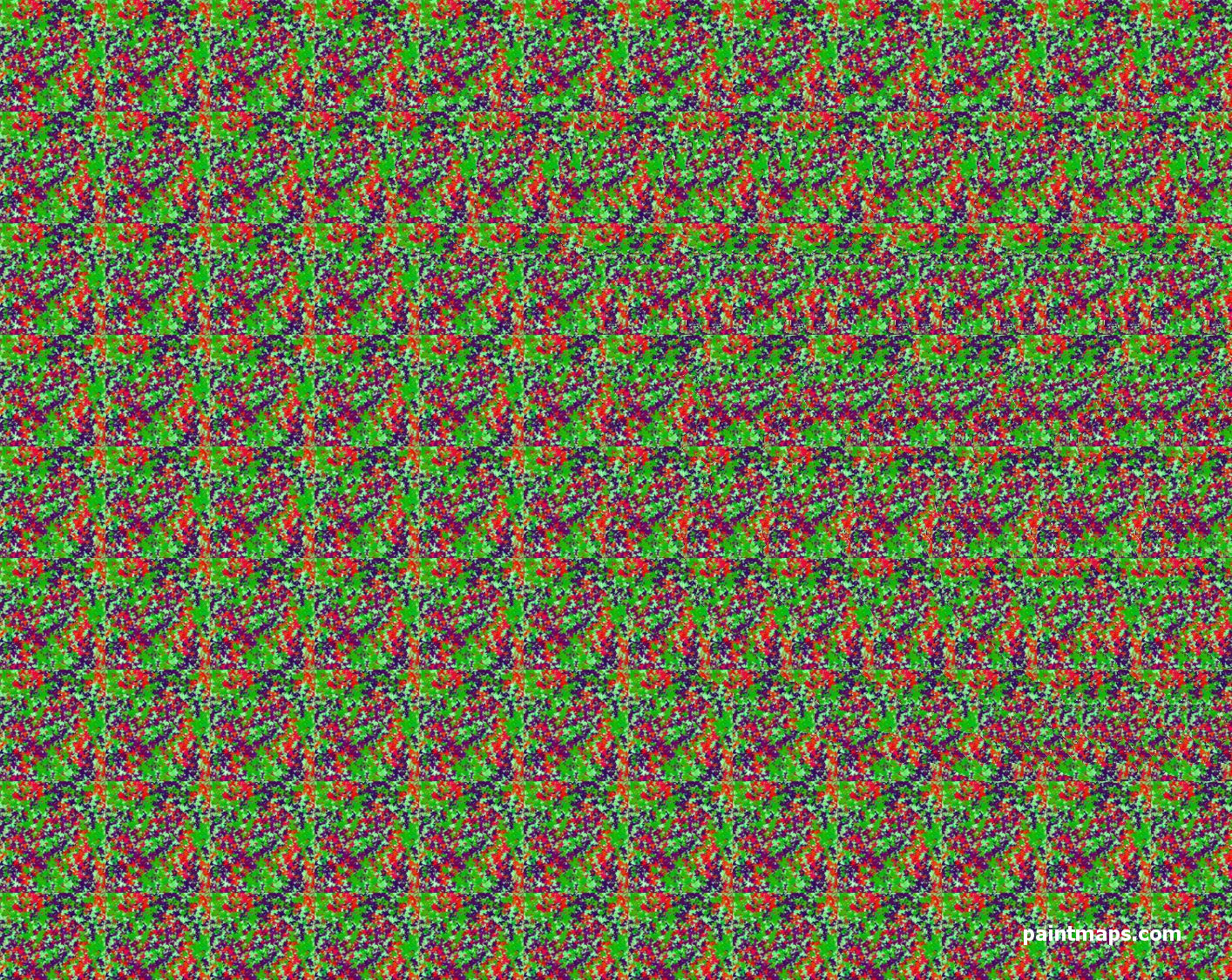 MALTA Map in 3D Stereogram (Magic Eye)