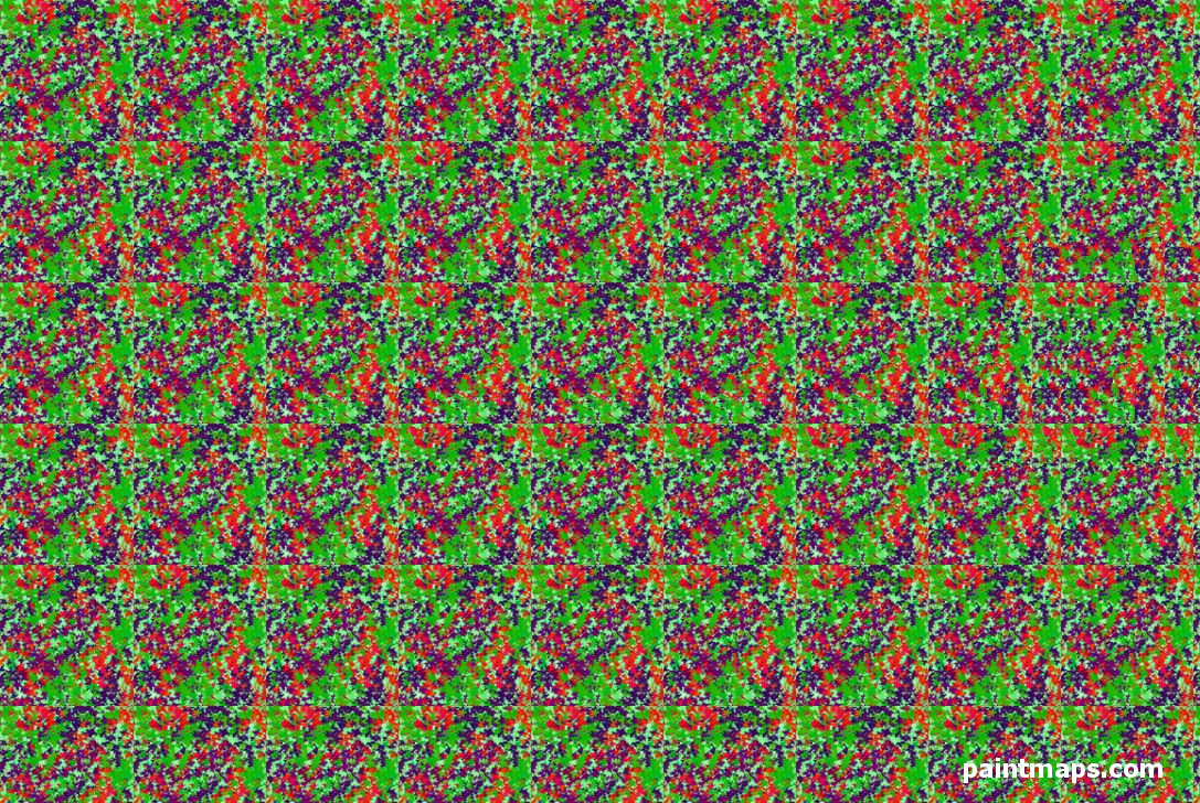 PORTUGAL Map in 3D Stereogram (Magic Eye)